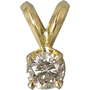 1/4ct Diamond 14K Gold Pendant