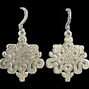 Sterling Endless Knot Dangle Earrings