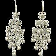 Fringy Cannetille Sterling Dangle Earrings