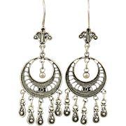 Sterling Filigree Multi Dangle Earrings