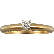 14K Diamond Solitaire Ring Beautiful!