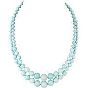 Amazonite Double Strand High Polish Bead Necklace 20.5""