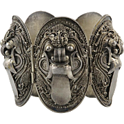 Barong Dragon Bracelet 900 Silver Signed