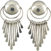 Fabulous Fringy Sterling Silver Earrings