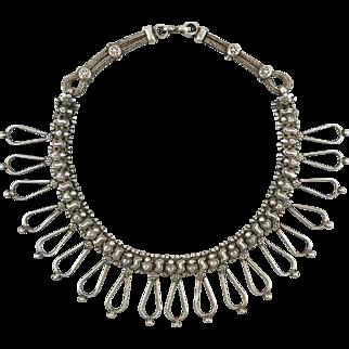 Vintage Elaborate Rajasthan 950 Silver Necklace 81 grams