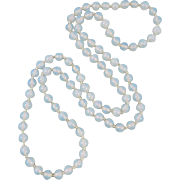 Opalite Glass Bead Endless Necklace 33""