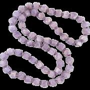 "Cape Amethyst Geometric Bead Necklace 32"""