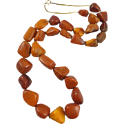 Antique Butterscotch Amber Necklace 112 grams 33""