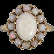 14K Art Deco Australian Opal Ring