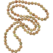 """Natural Rhyolite Beads in the Colors of Autumn 33"""""""