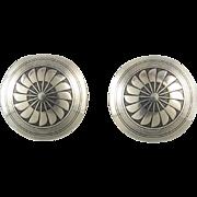 Handmade Sterling Silver Concho Earrings