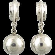 Sterling Ball and Hoop Dangle Earrings