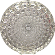 Beyer Kristall German Crystal 1960s/70s Thousand Eye Type Disc Vase