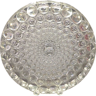 Beyer Kristall German Crystal 1960s/70s Thousand Eye Type Disc Vase