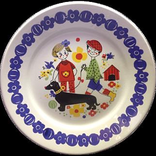 Vintage Inger Design Stavangerflint Kennel Pattern Plate