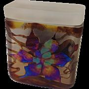 Scarce Beautiful Borowski Foiled Art Glass Decorative Box