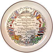 Final Sailing SS Rotterdam Holland America Royal Gouda Commemorative Plate