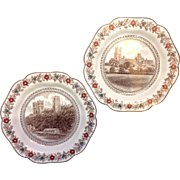 Pair London & North Eastern Railways Wedgwood Dessert Plates