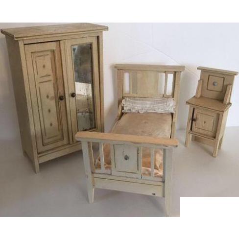 German Dollhouse Moritz Gottschalk Bedroom Set