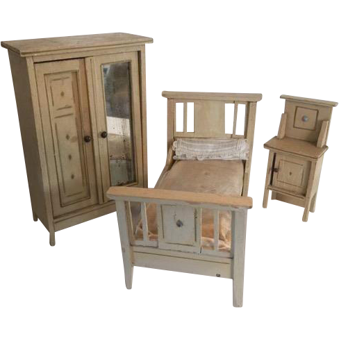 german dollhouse moritz gottschalk bedroom set from