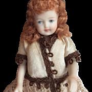 """3 1/2"""" Bisque Doll By Artist Martha Watkins"""