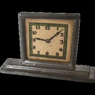 German Metal Dollhouse Clock ca. 1900-1910