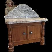 Early Antique Schneegas  Dollhouse Washstand