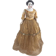 "Antique China Head Doll 11"" ca.1860-1890s"