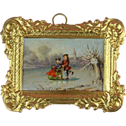Antique Lovely Erhard & Sohne Ormolu Picture