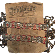 Antique Rare Dollhouse Sohlke Metal Newspaper Holder ca. 1880