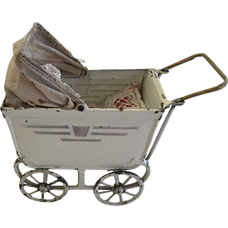 Antique German Doll Carriage
