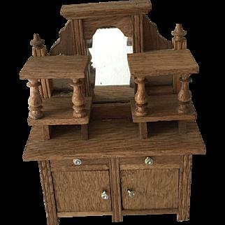 Beautiful Antique  German Dollhouse Cupboard