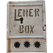 Antique German Letter Box For Dollhouse ca.1900