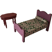 Vintage  Dollhouse 1940 Stombecker Furniture