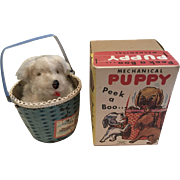 Vintage Asbury Park Souvenir Mechanical  Peek A Boo Puppy ca. 1950 - Red Tag Sale Item