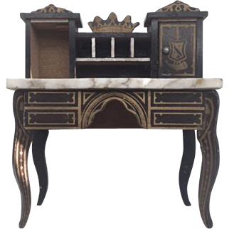 Antique Biedermeir Dollhouse Desk
