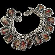 Fabulous Santa Claus Christmas Charm Bracelet