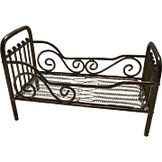 Antique  Dollhouse Brass Marklin Bed - Red Tag Sale Item