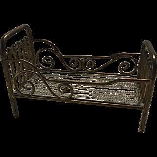 Antique  Dollhouse Brass Marklin Bed