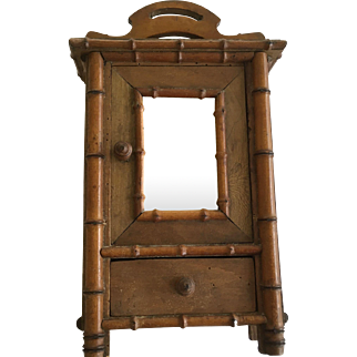 Beautiful Antique French Bamboo Armoire ca.1800-1913