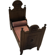Antique Victorian Dollhouse or Doll Bed Ca.1900