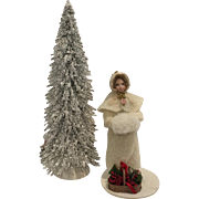 "Lovely 5"" Christmas Snow Doll"