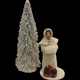 "Lovely 5"" Christmas Snow Doll"