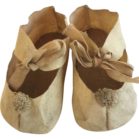 Antique Doll Shoes for Large Doll