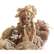"Beautiful 2"" Bisque Doll in Shoe"