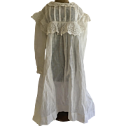 Vintage White Pinafore Doll Dress