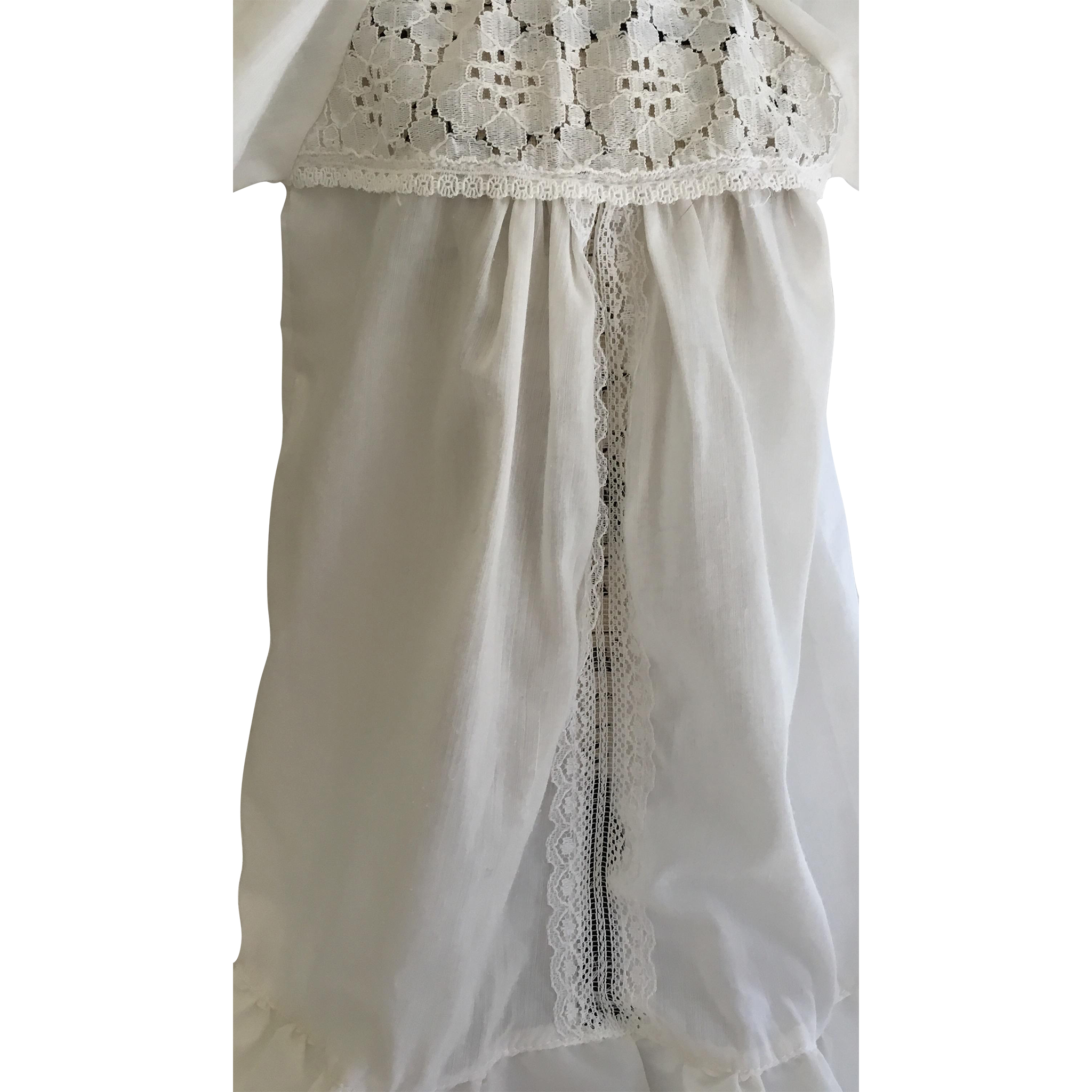 Lovely Vintage White Doll Dress for Bisque  Doll