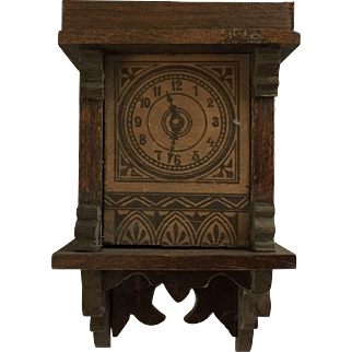 Wonderful Antique Dollhouse German Clock ca. 1900