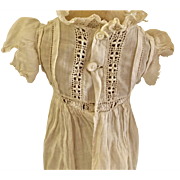 Fabulous Antique doll Gown or  Christening   Dress