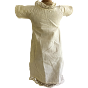 Antique WHite  Doll Dress
